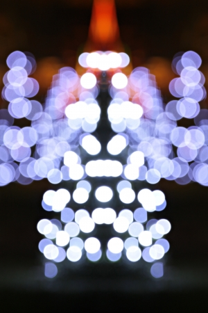 Christmas tree of bokeh  photo