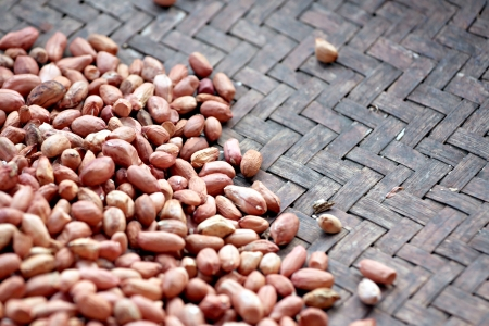 pygmy nuts: Peanuts shelled out placed in containers.
