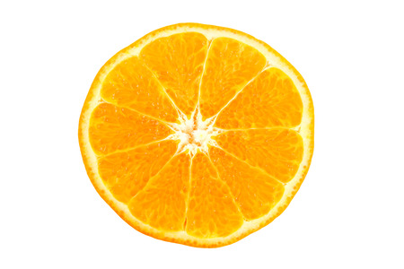 Mandarin Orange to sliced on the white background. photo