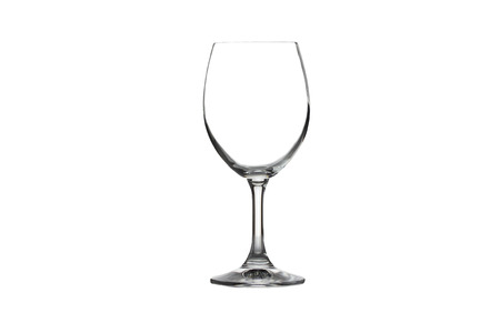 Wine glass isolated on white background. photo