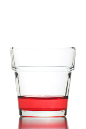 red water: Red water in Glass isolated on white background.