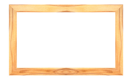 Wooden photo frames isolated on white background.
