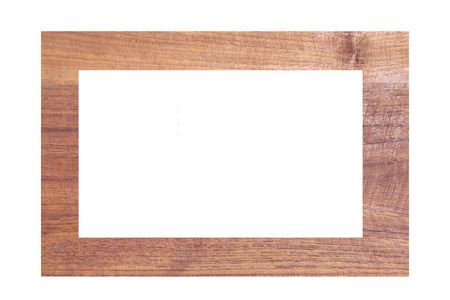 Wooden photo frames isolated on white background. photo
