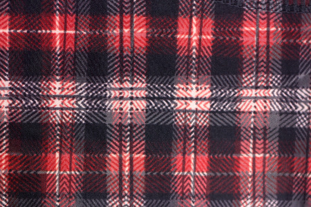 alternating: Pattern of red and black cloth in alternating for the background. Stock Photo