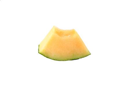 Cantaloupe melon isolated on white background. photo