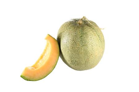 Cantaloupe melon isolated on white . photo
