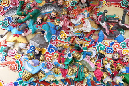 deities: Statues of deities in Chinese temples,Thailand.