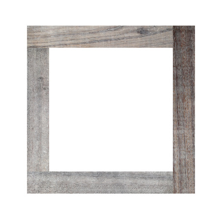 blank frame: Picture frame of solid wood isolated on white background.