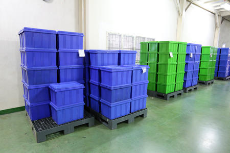Plastic box products in the industry.