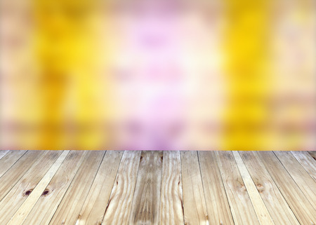 broad: Broad planks and bright colorful blur background for design. Stock Photo