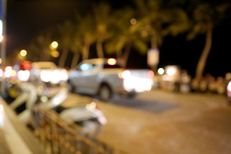 roadway: Blur roadway at night.