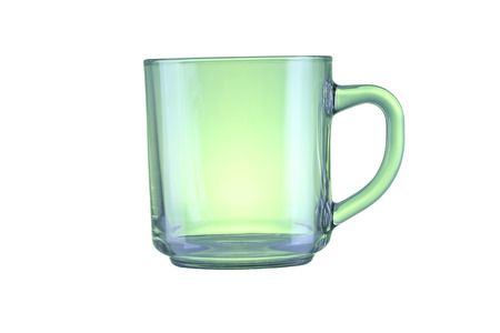 housewares: Green glass isolated on a white background