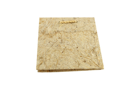 mulberry paper: Notebook made from mulberry paper on white background  Stock Photo