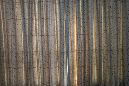 patterned: Patterned curtains for a background design.