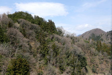 clear day: Mountains in countryside Japan on a clear day. Stock Photo