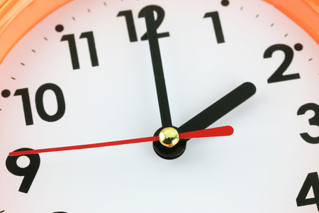 macro image: Clock face in time concept,macro image. Stock Photo