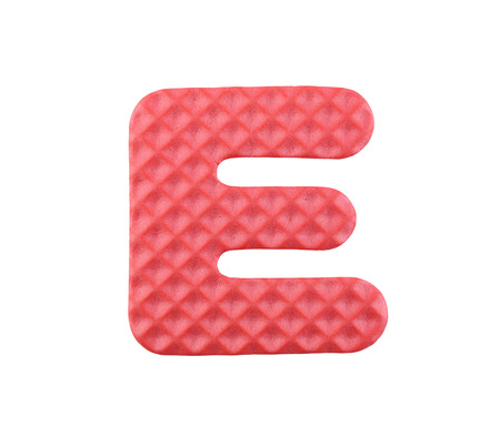 english letters: English letters isolated on white background with clipping paths.