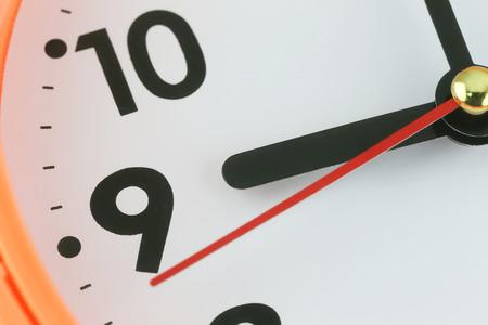 時間の概念、マクロ画像で時計の文字盤。
