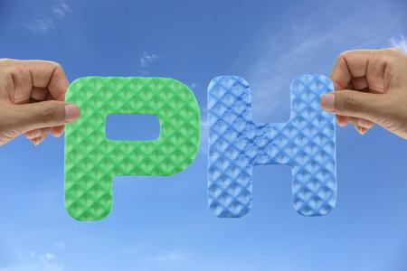 hidrogeno: Mano organizar alfabeto PE de hidr�geno sigla Poder en experimentos cient�ficos.