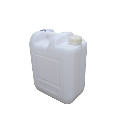 objects with clipping paths: White plastic gallon isolated on a white background with clipping paths. Stock Photo
