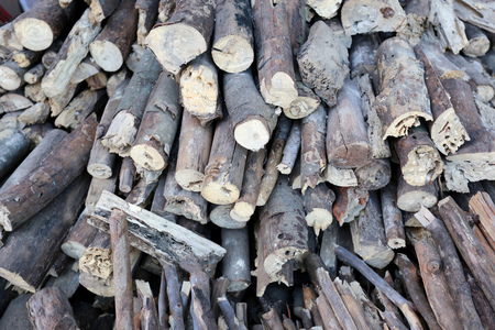pyre: pile of firewood made from the tree of dead for use in winter.