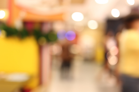 focus on background: Coffee shop in a blur style for the background image. Stock Photo