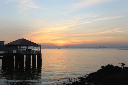atmosfera: crep�sculo atm�sfera en los balnearios noche, Atracciones en Tailandia. Foto de archivo