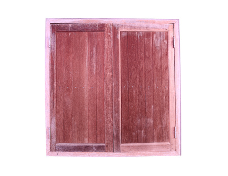 objects with clipping paths: Old wooden windows isolated on white background and have clipping paths.