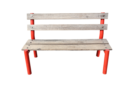 objects with clipping paths: Outdoor wood chair on white background and have clipping paths.