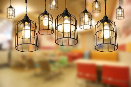 Moderne Lampen 54 : Warme beleuchtung moderne deckenleuchten im café und