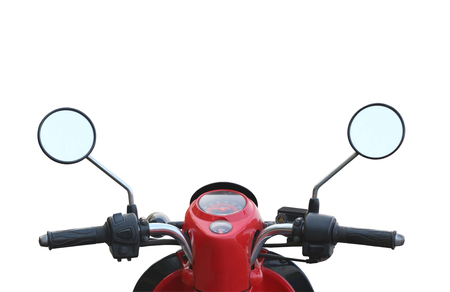 handlebar: handlebar of the motorcycle isolated on white background and have clipping paths.