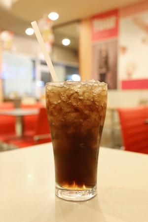 sediento: Cola fr�a en vidrio, copa de parada sed.