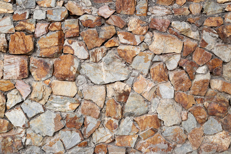 Surface of the stone walls that concatenation and build by the cement for background design.