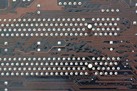 electronical: brown electronics background of computer mainboard and have concept about technology.