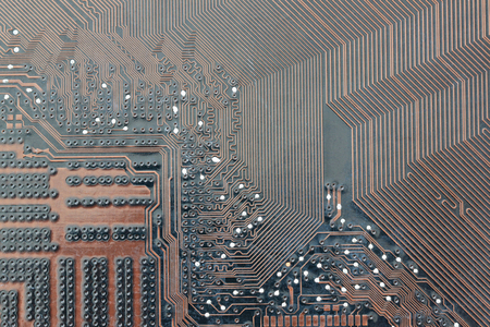 brown electronics background of computer mainboard and have concept about technology.