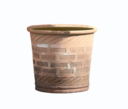 flower pots: flower pots or jardiniere isolated on white background and have clipping paths.