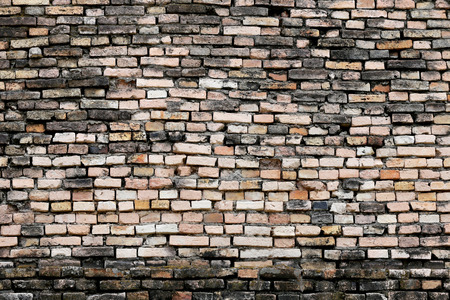 corrosive: Texture of old weathered brick wall decayed and broken malfunctioning degraded for design background.