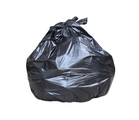 garbage bag: Garbage bag have waste inside isolated on white background and have clipping path.
