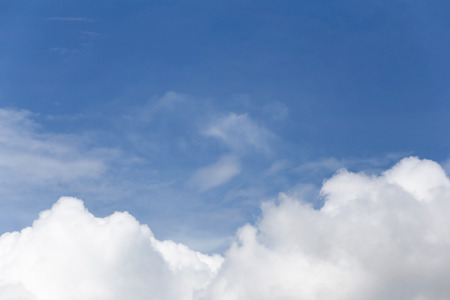 high view: Cloud on blue sky in the daytime of high view. Stock Photo