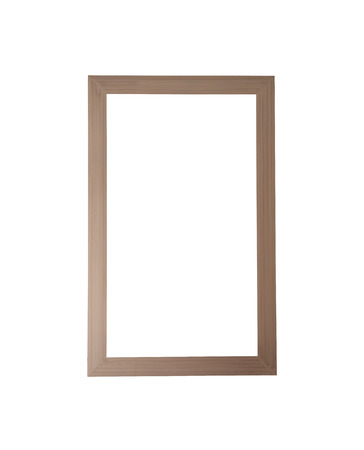 objects with clipping paths: Old wooden frame isolated on white background and have clipping paths.
