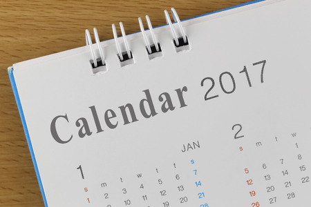 cipher: Picture show the Text on calendar in 2017 year for design background. Stock Photo