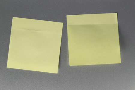 memorize: Empty yellow paper sheet on refrigerator door for design and input text to concept food and drink etc.