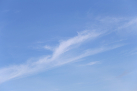Cloud on blue sky in the daytime of Bright weather for design nature background. Stock Photo