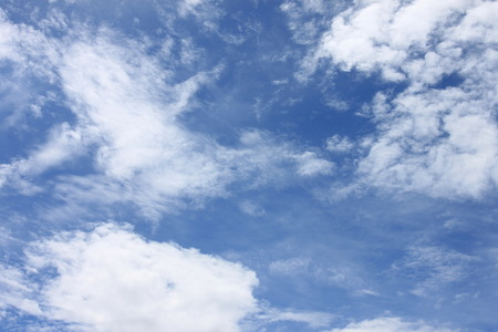 Cloud on blue sky in the daytime of high view. Stock Photo
