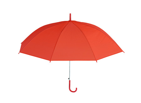 objects with clipping paths: Red Umbrella isolated on white background and have clipping paths to easy deployment.