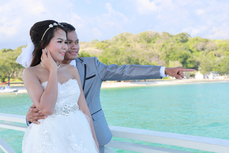 Pre Wedding photography thai couples at Koh Si Chang Island concept in memory of love.