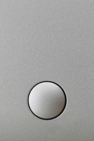 Surface of Gray aluminum background and have Keypad or button for design backdrop in your work. Reklamní fotografie