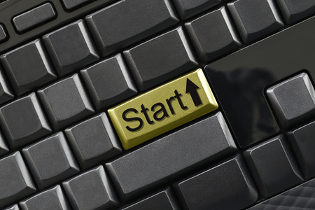 Text of start on computer keyboard for design in your concept of business design.