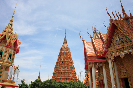 Tiger Cave Temple in Kanchanaburi province,Religious places that Thai people like to visit.