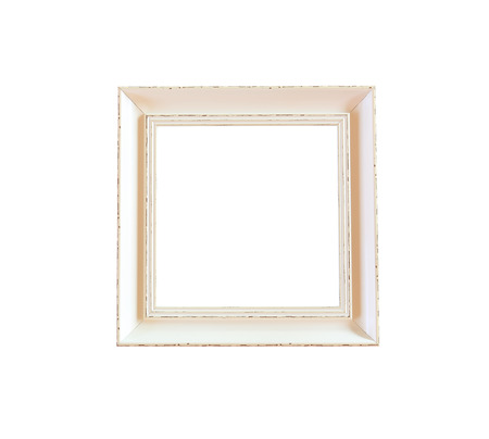 Old Wooden Vintage Photo Frame Isolated On White Background And ...